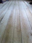 Sanded, unfinished wood floors