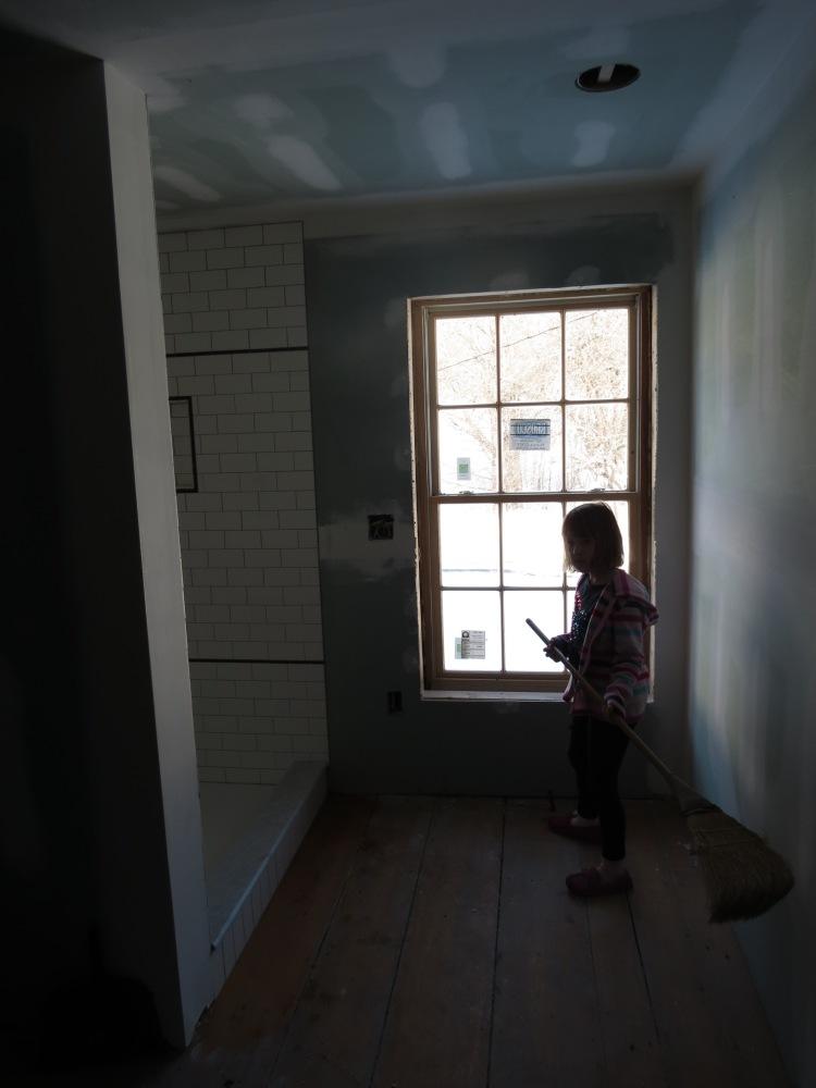 2nd Floor Bathroom Progress (3/4)