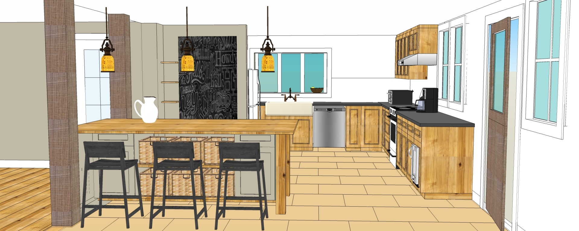 New Kitchen Design - Updated - Vermont Farmhouse Project