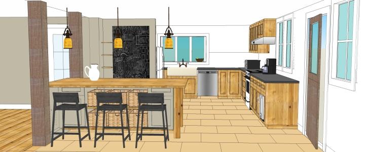 New Kitchen Design - 3D conceptual image