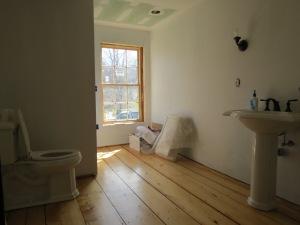 Progress on Second Floor Bathroom.