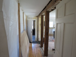 Beams are installed between Kitchen and Dining Room.