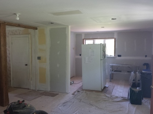 View of Kitchen from entry door